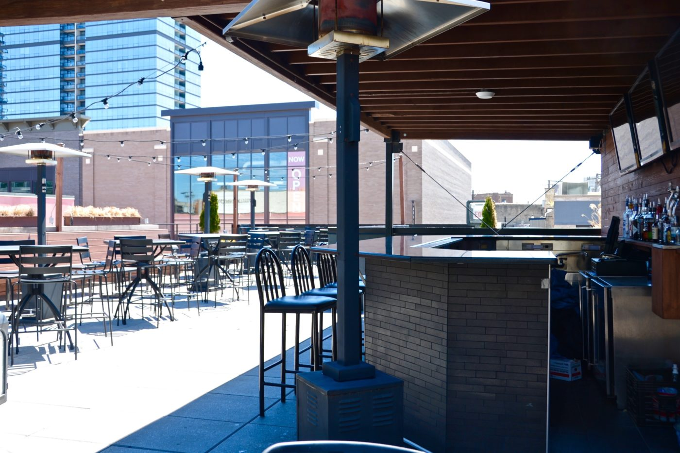 The Rooftop bar at Joe's on Weed St.