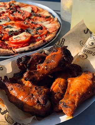 Buffalo Wings and Pizza at Joe's on Weed St.